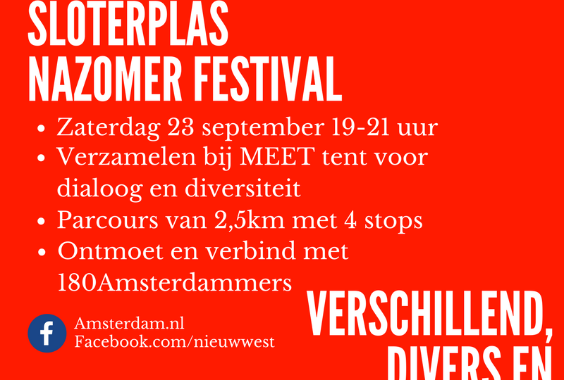 Diversiteitloop Sloterplasnazomer festival