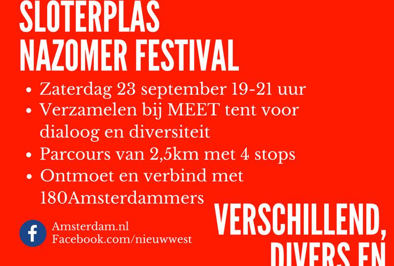 Diversiteitloop Sloterplasnazomer festival